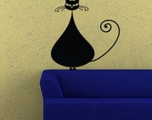 Fat Cat wall decal