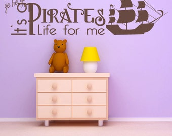 Pirates Life kids Wall Decal Sticker