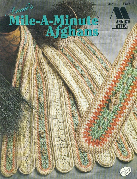 Crochet Afghan Patterns Mile A Minute : Annies Attic Crochet MILE-A-MINUTE AFGHANS Aran Southwest