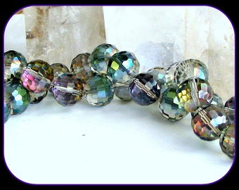 Tiny Microfaceted Crystal Disco Ball AB Passion Rainbow  6mm(35)
