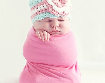 Newborn Girl Hat / Crochet Girls Hat / Baby Girl Beanie / Baby Shower Gift Girl / Girls Beanie / Hats For Girls / Toddler Crochet Hat