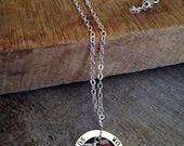 30% off sale - Sterling Silver Cancer Survivor Necklace - Pink