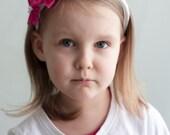 Pink girl headband - Pink Girl Kanzashi Flower headband - Girl head band - Children accessories