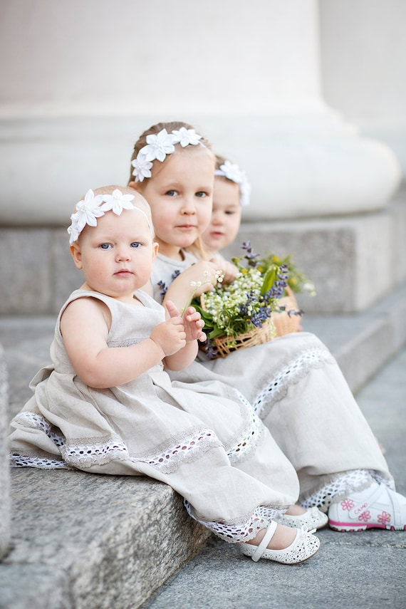 Rustic Flower Girls Dresses Weddings 3 Flower Girls Dresses