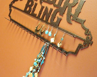 New Cowgirl Bling Heavy Duty Jewelry Holder Display
