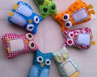 Mini Plush Owls Made To Order