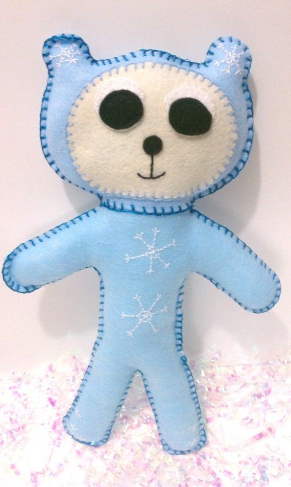 Snowflake Plushy Bear Doll on Sale