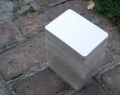 "25 Rectangular Coasters Medium weight Blank, 3 7/8"" x 5 3/8"". Perfect for letterpress, crafts, etc"