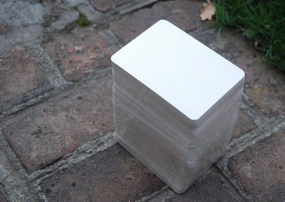 "125 Rectangular Coasters Medium Weight, 3 7/8"" x 5 3/8"". Perfect for letterpress, crafts, etc"