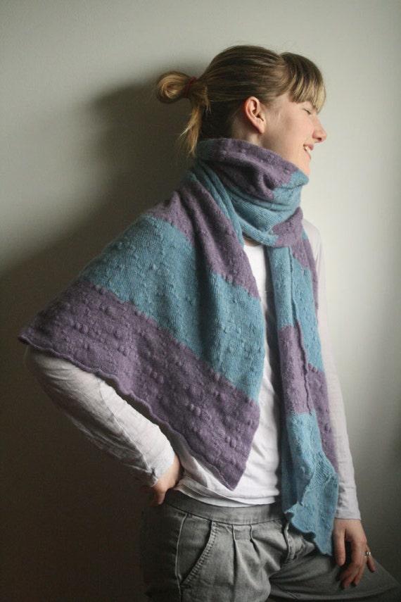 Big delicious stripy pure cashmere scarf