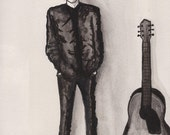 "5"" x 7"" print- ""Like a Rolling Stone"" (Bob Dylan Portrait)"