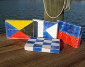 FOUR custom maritime flag signs