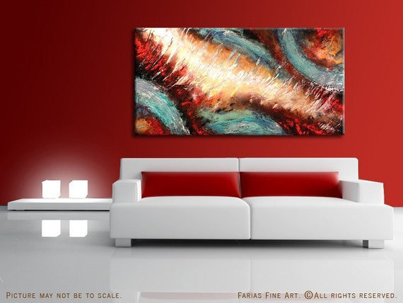 Abstract Painting Modern ORIGINAL Acrylic Fine Art 48x24 by FARIAS