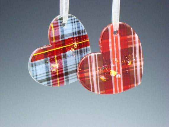 Fused Glass Heart Ornaments (sold Individually)