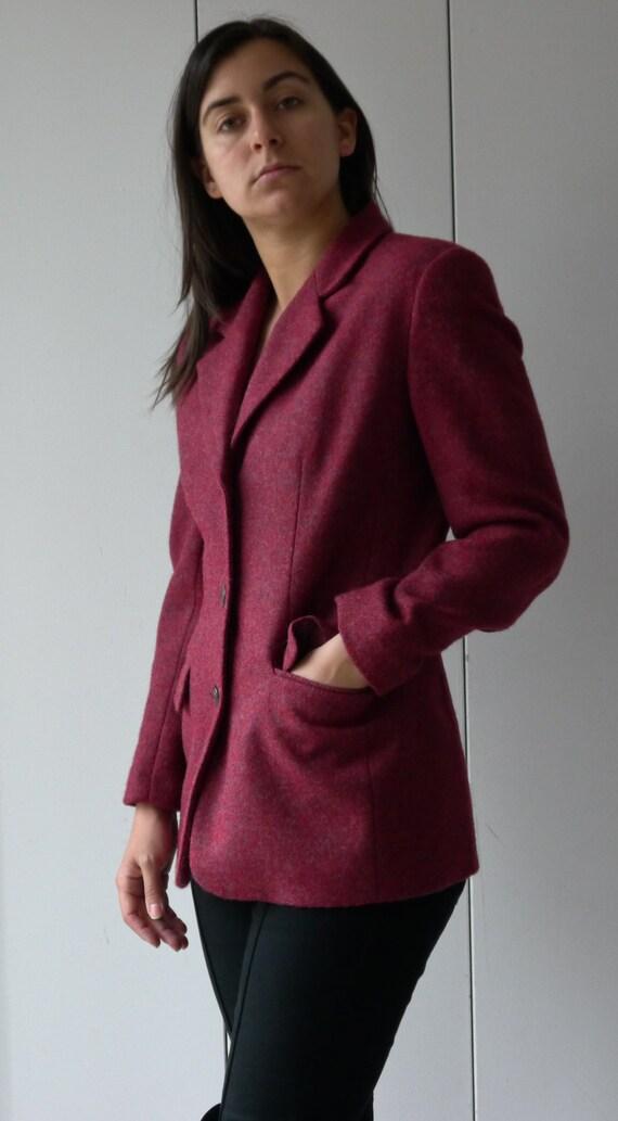 SALE -- Wool Merlot Blazer