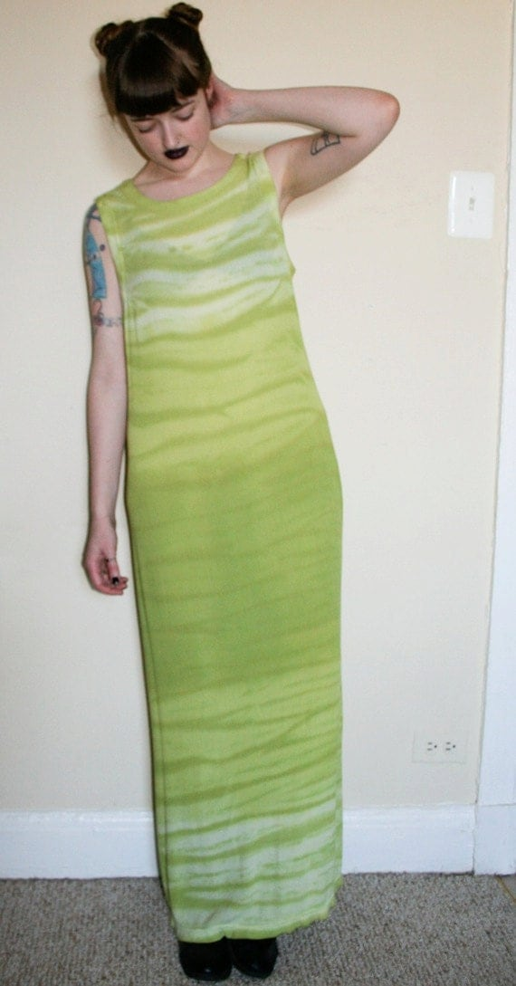 SALE --Tie Dye Zebra Alien Maxi Dress