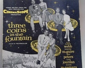 "Vintage Sheet Music ""Three Coins in the Fountain"""