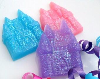 10 CASTLE SOAP FAVORS - Princess Party Favor, Princess Birthday Party - Princess Baby Shower, Prince, Beach Favor (Favor Tags Included)
