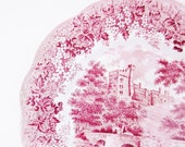 English Castle Vintage Dinner Plate Haddon Hall Derbyshire Meakin Ironstone