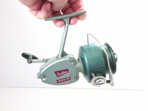Vintage Heddon 220 R Ocean And Freshwater Fishing Reel Sportsman Mid Century Man Cave Decor