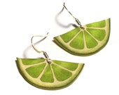 Refreshingly Twisted Lime earrings