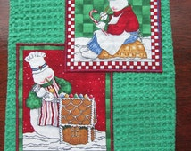 SNOWMAN GINGERBREAD HOuSE Bakery Sweet Hostess Gift Cute Dish Kitchen Towel