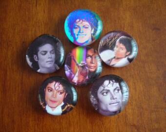 SALE PRICE Michael Jackson Tribute Magnets Glass Bubble Magnets
