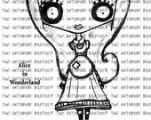 INSTANT DOWNLOAD Alice Digital Stamp