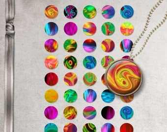 INSTANT DOWNLOAD Abstract Cabochons 1 inch circle Digital collage sheet-Image for bottle caps-Digital images for pendant-Digital download