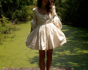 organic psych- folk mini dress with pockets