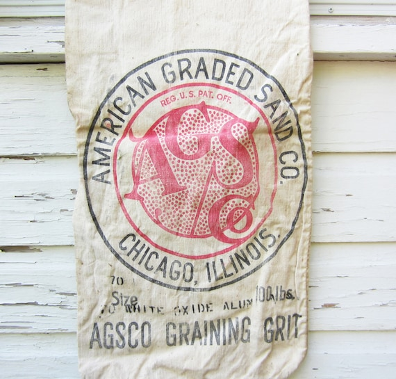 Vintage Grain Sack - American Graded Sand Co. - Chicago, Illinois - Quantity Available