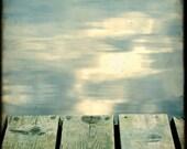 Skandinavian Summer V - 4.75 in - Fine Art Print Water Reflection Wood