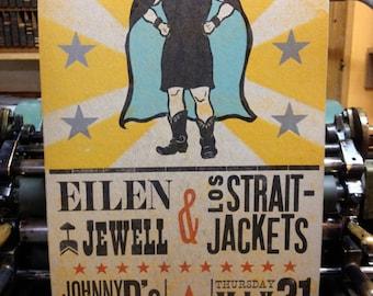Eilen Jewell / Los Straitjackets Poster, Somerville