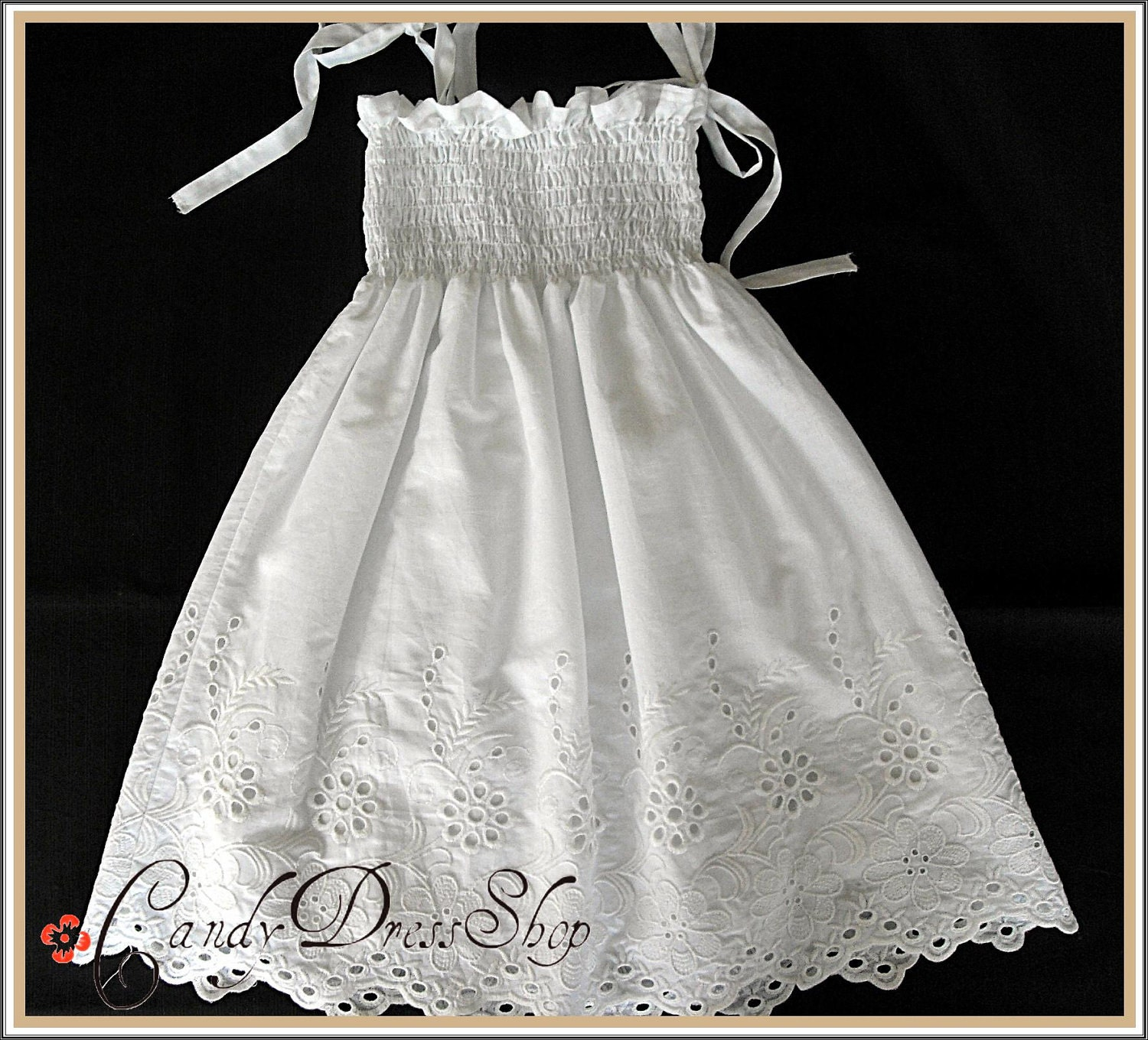 White Cotton Dresses For Girls