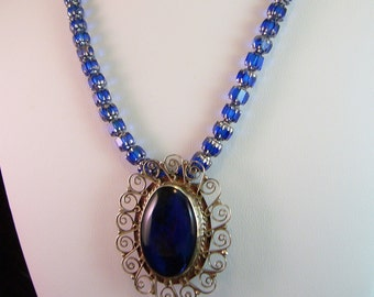 Classy Cobalt Necklace