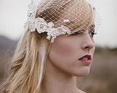 For Alana only Ready to ship- Ivory birdcage veil-Best Seller