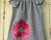 Girls Peasant Dress - Chevron Print - Children Clothing - Tunic A Line