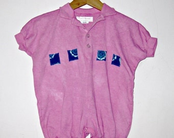 pink baby Romper Toddler Girl 18 month Polo Collar