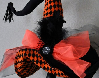 Witch Hat - Halloween Witch Hat - Diva Witch Hat Decor -  Halloween Decoration - Witch Hats - Table Top Witch Hat Decor - by JoJo's Bootique