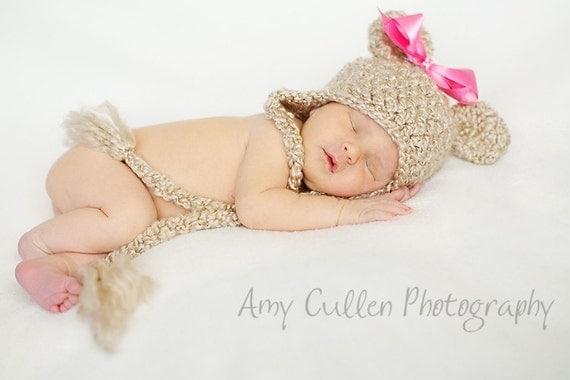 Bear Hat - Baby Bear Hat - Baby Hat - Newborn Hat - Baby Girl Hat - Baby Hats - by JoJosBootique