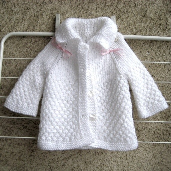 Items Similar To Baby Knit Cardigan New Born Sweater