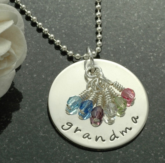Grandma necklace - Personalized jewelry - grandmother jewelry - mother's necklace - personalized necklace - godmother gift