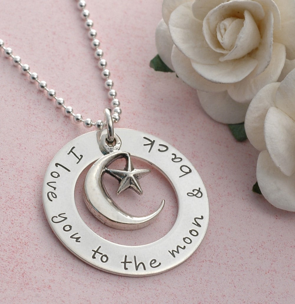 i love you to the moon and back personalized jewelry