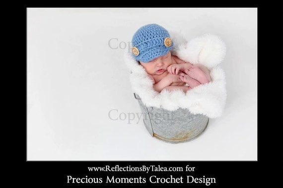 Newborn Hat, Baby Newsboy Hat, Baby Boy Cap, Baby Boy Visor Hat, Newborn PHOTO PROP, Crochet Visor Hat, Newborn Boy Hat, Oatmeal, Cream