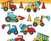 KPM Construction Zone Digital Clip Art