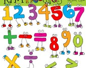 Math Monsters Digital Clip art
