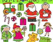 KPM Santa and Mrs Clause Digital Clip art COMBO