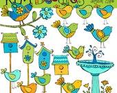 KPM Birdy blues Digital Clip art