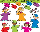 KPM Graduation Kids Digital Clip art