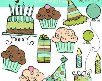 KPM Baby Boy Birthday Digital Clip Art